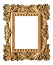 Picture frame baroque style. Vintage art gold object Royalty Free Stock Photo