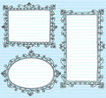 Picture Frame Borders Notebook Doodles Set Stock Image