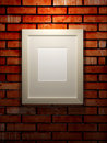 Picture frame on a brick wall Stock Photos