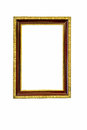 Picture frame a in gold Royalty Free Stock Image