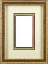 Picture frame gold art decore Stock Photography