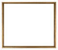 Picture frame gold colored isolated Royalty Free Stock Image