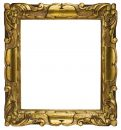 Picture Frame Gold Cubic (Path Included) Royalty Free Stock Photos