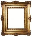 Picture Frame Gold (Path Included) Royalty Free Stock Photo