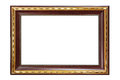 Picture frame isolated on white background Royalty Free Stock Images
