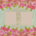Picture frame over floral background vector illustration Royalty Free Stock Photography