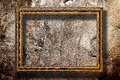 Picture frame on a stone grunge background Royalty Free Stock Photography