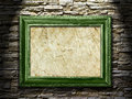 Picture frame on a stone grunge background, highlight Stock Photo