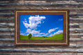 Picture frame to nature Stock Image