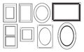 Picture frame vectors a pack with a variety of frames Stock Photo