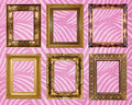 Picture frame wallpapers background golden interior Royalty Free Stock Photos