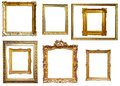 Picture frames isolated over white background may be used for photo or Royalty Free Stock Photography