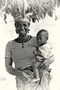 Picture of a Ghanaian mother with her baby Royalty Free Stock Photo