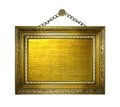 Picture gold frame Royalty Free Stock Photo