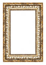 Picture gold frame with a decorative pattern Royalty Free Stock Images