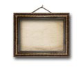 Picture gold frame on the white background Royalty Free Stock Photo