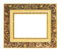 Picture of golden vintage art frame Royalty Free Stock Photo