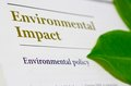 Picture illustrating environmental impact environmental policy corporate sector companies annual report as corporate social Royalty Free Stock Photo