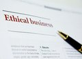Business Ethics Royalty Free Stock Photo