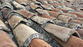 A picture of an old tiled roof Royalty Free Stock Photos