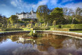 Picture of one of the most popular tourist s place in north eastern part of scotland the monumental dunrobin castle at the Royalty Free Stock Photo