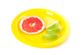 A picture of piece of grapefruit Royalty Free Stock Photo