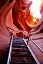Red sandstone formations at antelope canyon Royalty Free Stock Photo