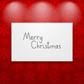 Picture on red wall christmas Stock Image
