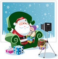 Picture with Santa Royalty Free Stock Image
