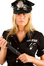 Picture of serious policewoman Royalty Free Stock Images