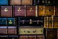 Picture of some old world vintage travel suitcases Royalty Free Stock Image