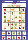 picture sudoku for kids, Cut and paste