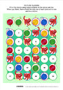 Picture sudoku puzzle with cats and yarn balls x one block two red four answer included Stock Photo