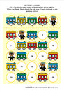 Picture sudoku puzzle with train cars and teddy bear railroad themed x one block as railway man answer included Stock Images