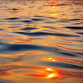 Picture of the surface water in the sunset time Royalty Free Stock Photo