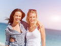stock image of  Picture women on the beach