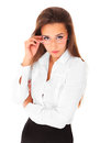Picture young business woman Stock Photography