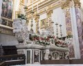 White marble high altar of the Matera Cathedral Royalty Free Stock Photo