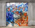 Unifying the Cultures of Neighborhood in Philadelphia, mural by Joseph and Gabriele Tiberino Royalty Free Stock Photo