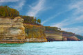 Pictured rocks cliffs national lakeshore near munising michigan upper peninsula Stock Photo