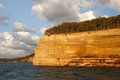 Pictured rocks national lakeshore in evening sunlight these colorful formations are on the lake superior shoreline on michigan s Stock Photography