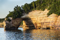 Pictured rocks national park michigan a scenic rock formation in munising lakshore in the upper peninsula of gorgeous scenic Royalty Free Stock Photography