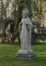 Stone Statue of Sacred Heart of Jesus Christ, Amsterdam Begijnhof Royalty Free Stock Photo
