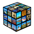 Pictures of different landscapes and landmarks shot by myself cube with Stock Photo