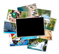Pictures of holiday a pile photographs with your empty space Royalty Free Stock Photos