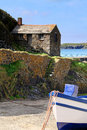 Pictureseque mullion cove cornwall beautiful landscape Royalty Free Stock Image