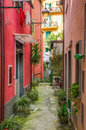 Picturesque alley in Monterosso al Mare, Italy Royalty Free Stock Photo