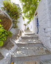 Picturesque alley tinos island greece Royalty Free Stock Images