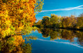 Picturesque autumn landscape riga latvia Royalty Free Stock Image