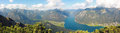 Picturesque autumnal landscape and panoramic view to achensee, a Royalty Free Stock Photo